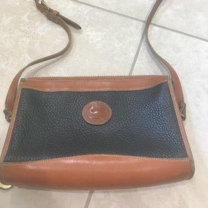 Dooney&Bourke Black brown leather crossbody bag